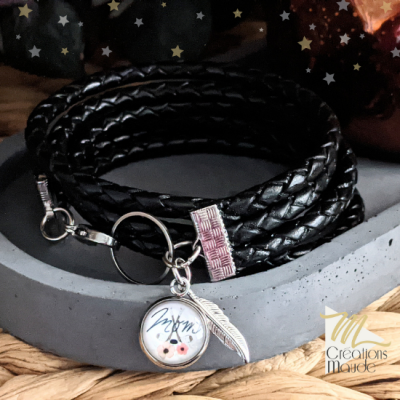 Bracelet de cuir  Massif Hockey MOM